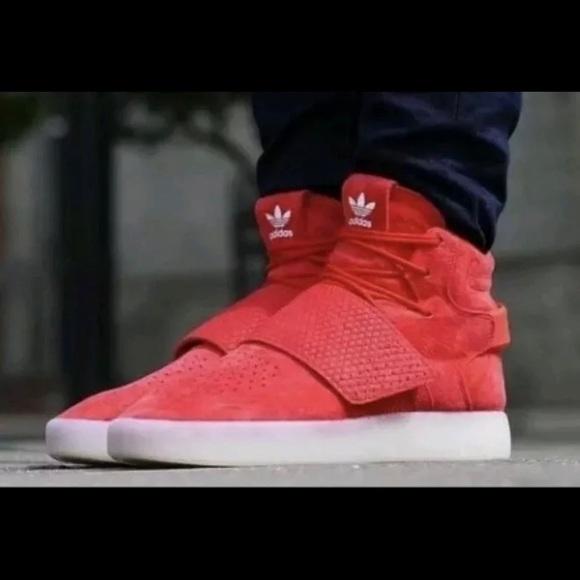 Adidas Tubular Invader Strap Red Sz 10